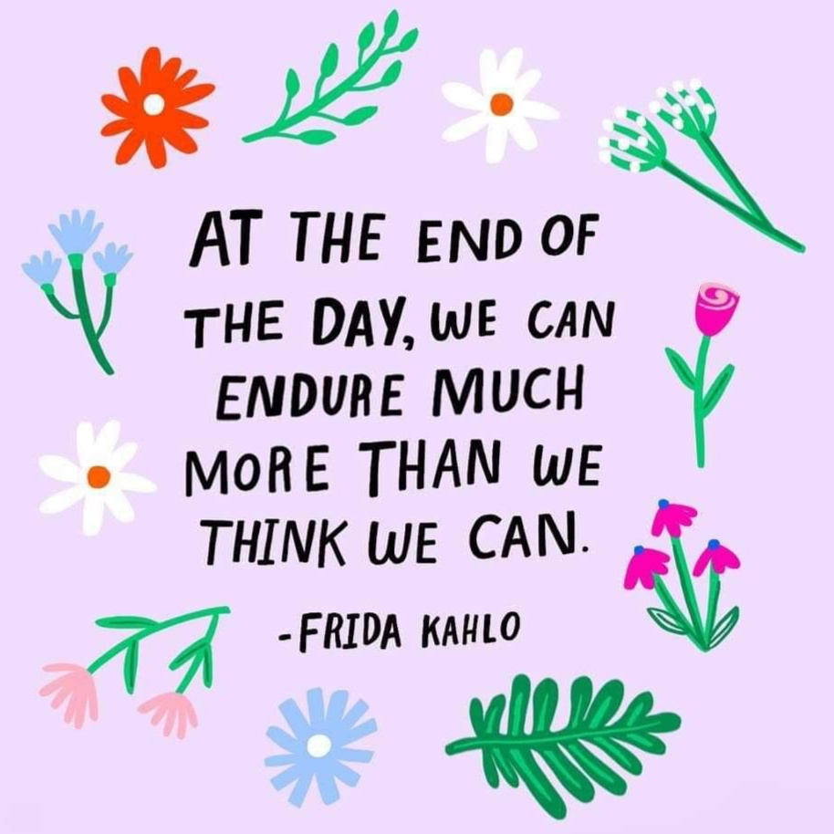 A motivational quote from Frida Kahlo